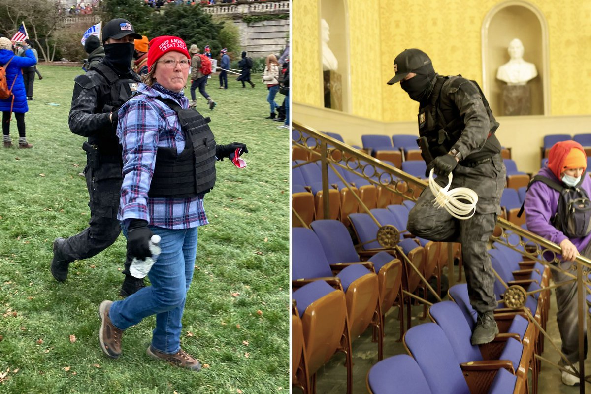 "Most have seen the image of Eric Munchel, dubbed ""zip-tie guy.""  His mother, Lisa Eisenhart, was there too, wielding plastic restraints while chanting, ""Treason!""  FBI agents allege the mother and son stashed a bag of weapons outside the Capitol."