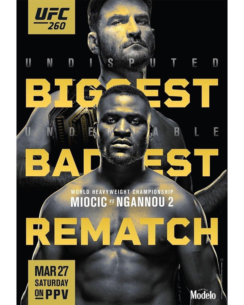 Ngl this poster looks badass #UFC260