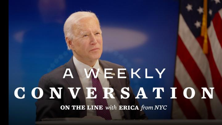 Erica is a nurse in New York City and runs COVID-19 testing at one of the hardest-hit hospitals in the country. President Biden called her to check in and discuss what the federal government can do to help. Take a look: