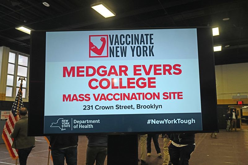 Appointments are OPEN at Medgar Evers College for all eligible New Yorkers who live in #Brooklyn.  Confirm your eligibility & schedule an appointment today: