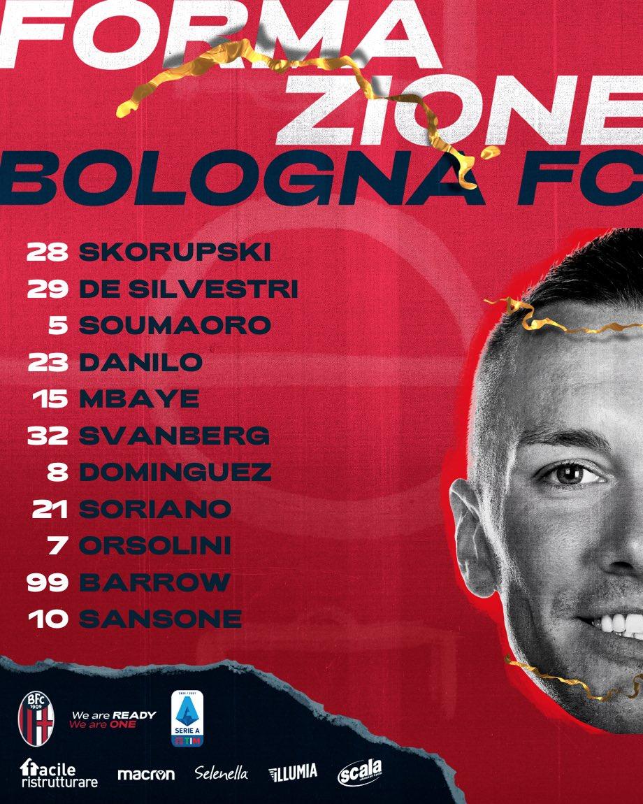 🔔 FORMAZIONE 🔔  Noi scendiamo in campo così 👊  #BolognaLazio #WeAreOne https://t.co/qiJf6UNkbX