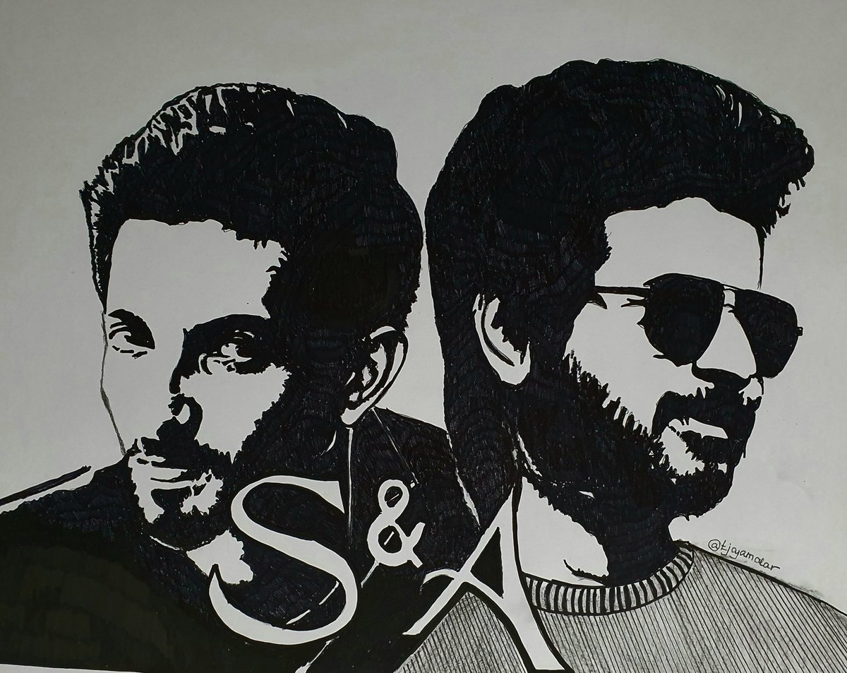 Both #Chellamma & #SoBaby are already a huge hit worldwide 👍 The #SnA magic 🥰.  @Siva_Kartikeyan its lovely to see that beautiful bond u and @anirudhofficial have. An everlasting friendship ♥️  Drew a silhouette art especially for the both of u - hope u like it 😊.