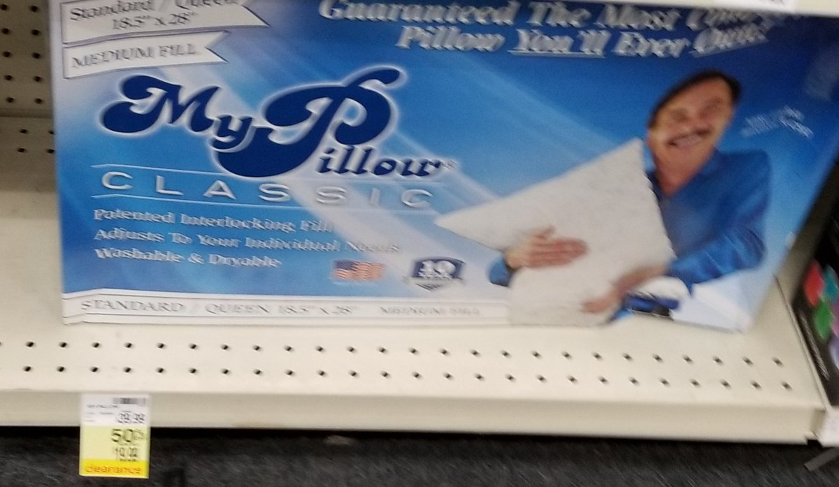I got so much joy from seeing on clearance this #MyPillow. Still creepy and POS.