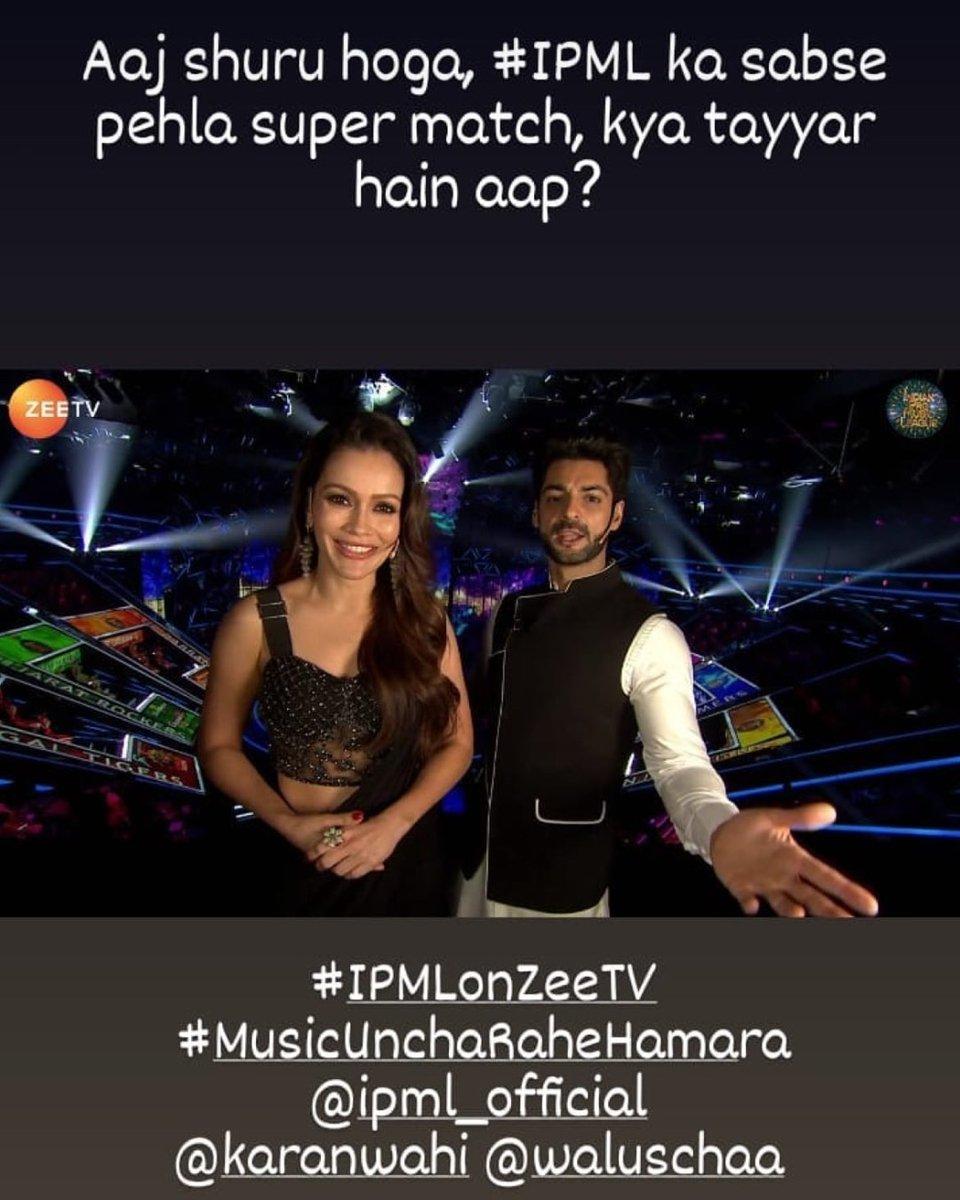 Watch #IndianProMusicLeague Every Sat-Sun 8 pm Zeetv #Karanwahi