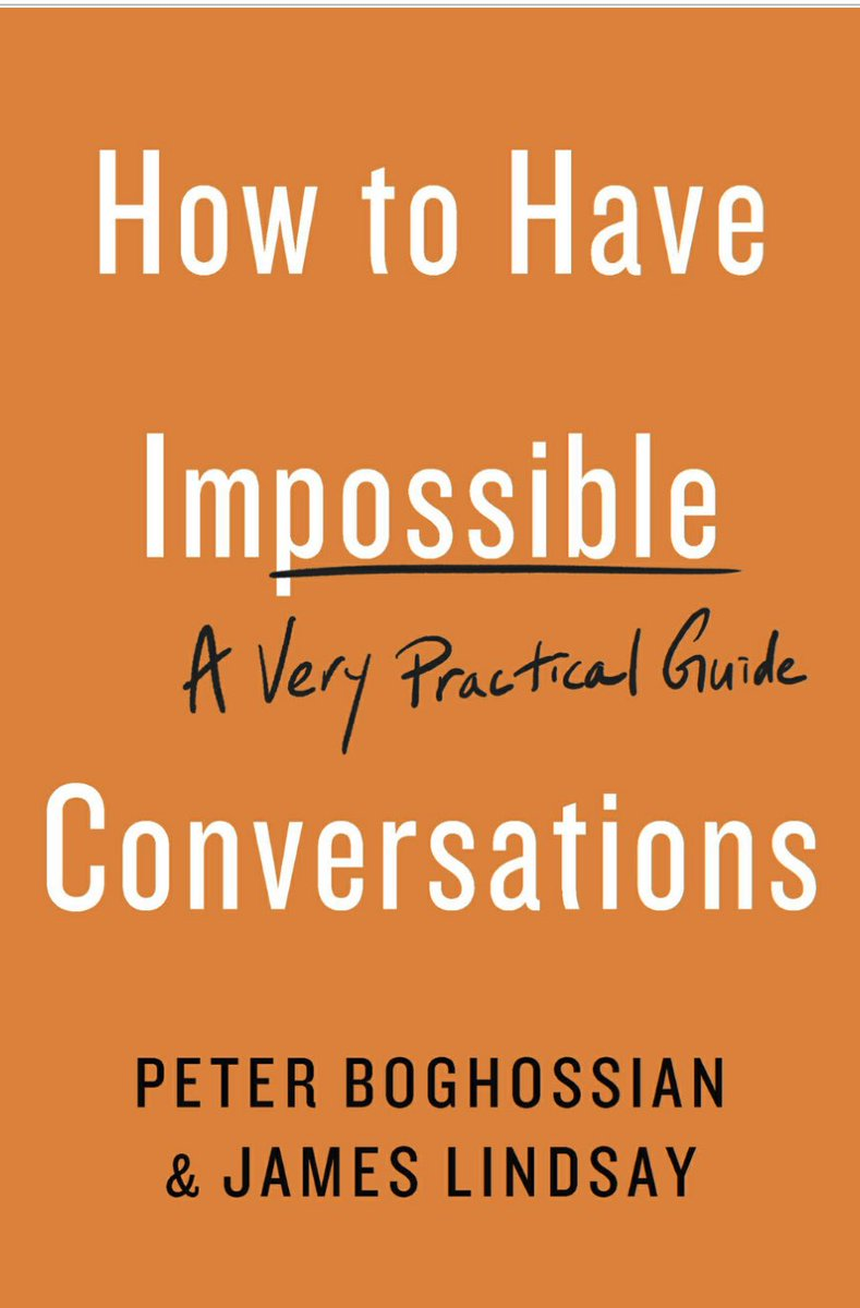 An guide book for anyone wishing to navigate more conversations successfully. Thank you ⁦@ConceptualJames⁩ and ⁦@peterboghossian⁩ for sharing your insights! Great sources and fun quotes, too!