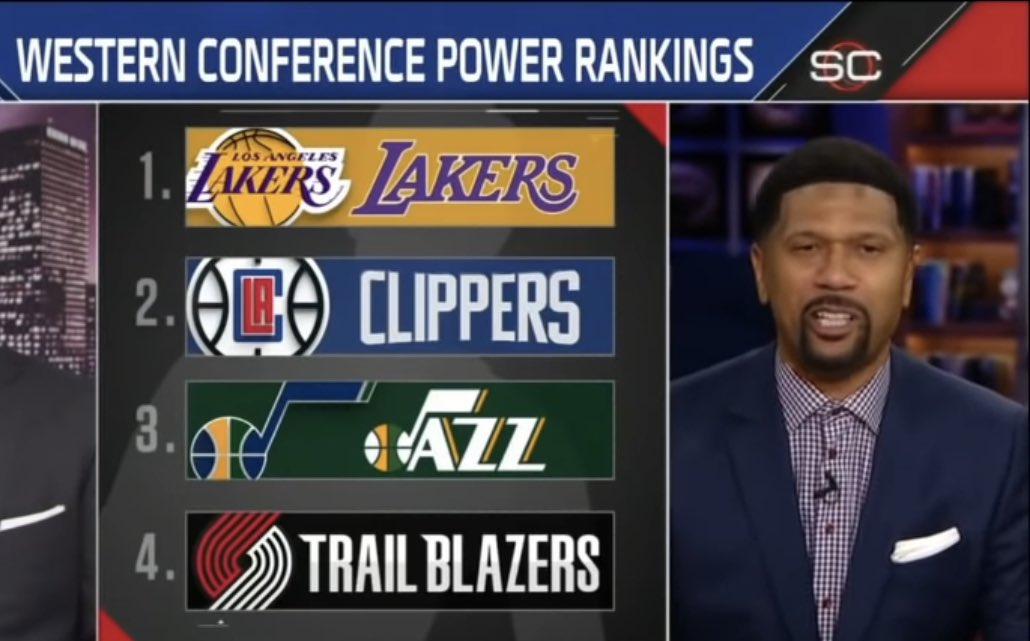 Jalen Rose's Western Conference Power Rankings after last night   (Via ESPN) https://t.co/wjA5u0qQS9