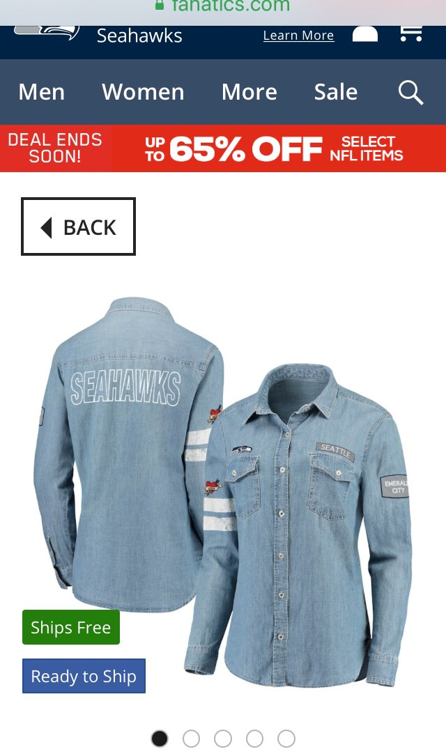 Check out these new #Seattle #Atlanta #Pittsburgh denim Jean shirts from @WEARbyEA @ErinAndrews  These are awesome Erin. #RunItBack we need the #Chiefs & #Buccaneers too @Fanatics #WEARbyEA #ErinAndrews