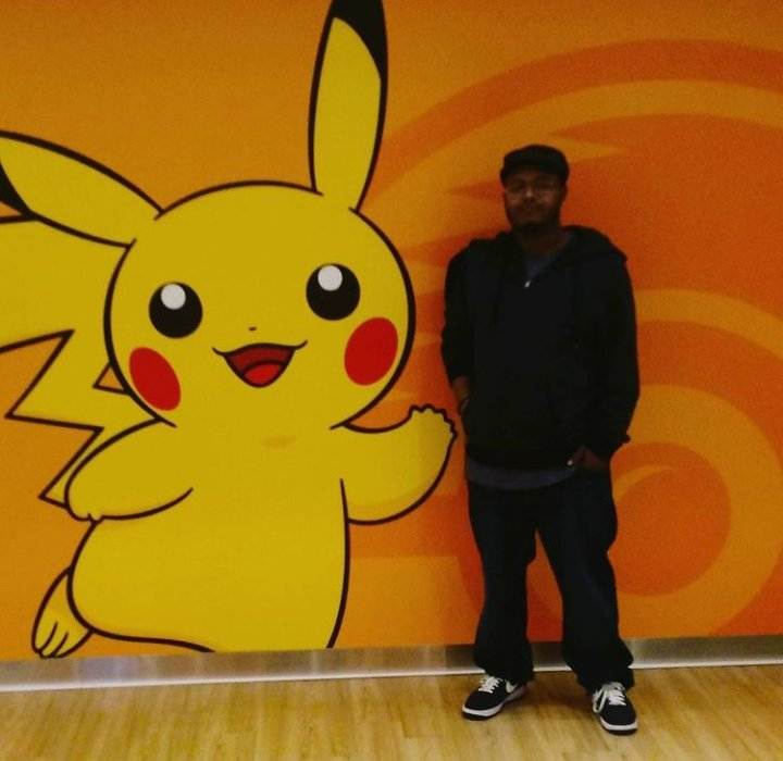 Posing with Pikachu in Japan! Happy Pokemon Day and Happy Birthday Me! #pokemoncenter #PokemonDay #Pisces