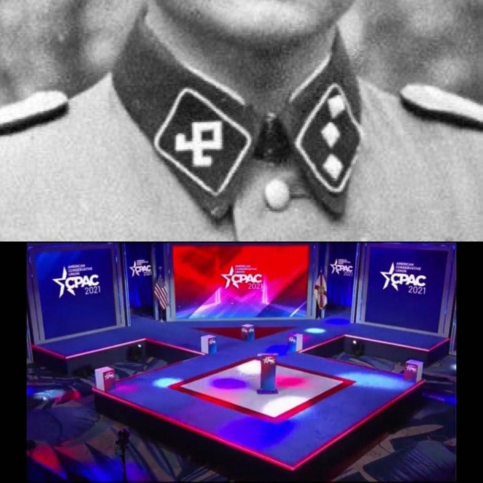 Hyatt and Nazi are trending at the same time because they are hosting a group of White Supremacists whose stage is an actual Nazi logo.  Guess you did Nazi that coming, did you @Hyatt?