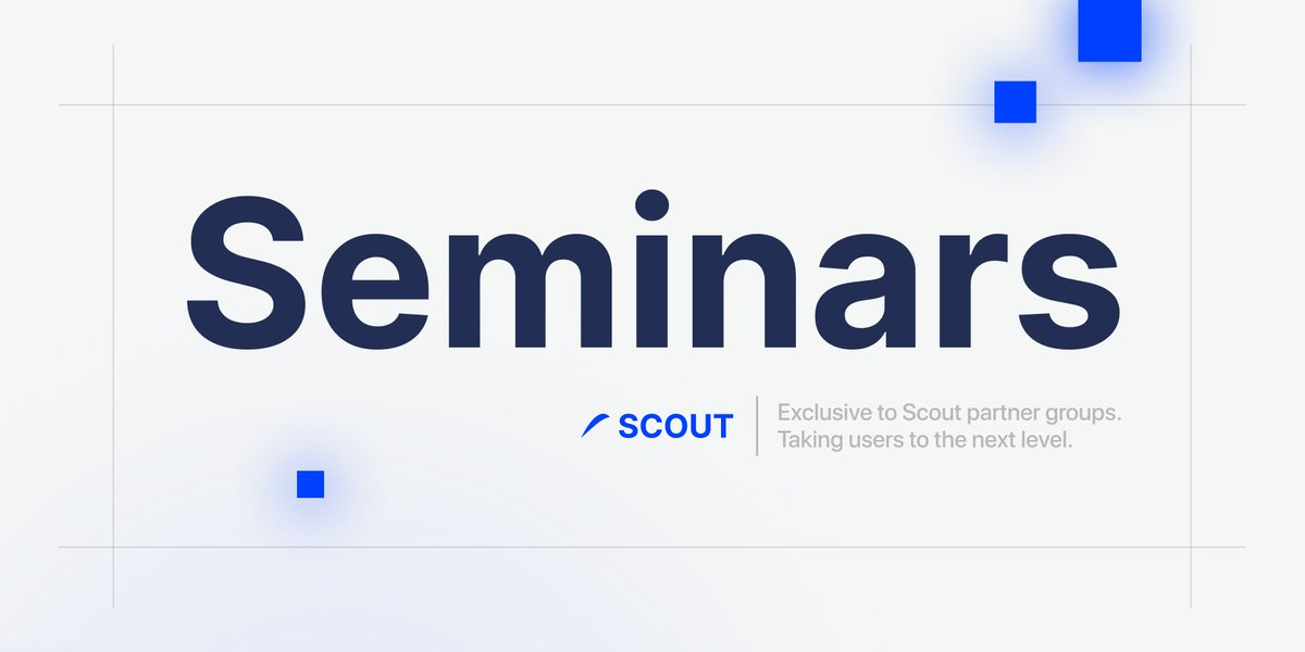 Scout Seminars. 👨‍🏫   We're offering our partner groups a seminar for their members presenting the power of Scout, along with some gifts. 🎁   Any guesses on who our first group is? Hint: 🏀🏈🃏