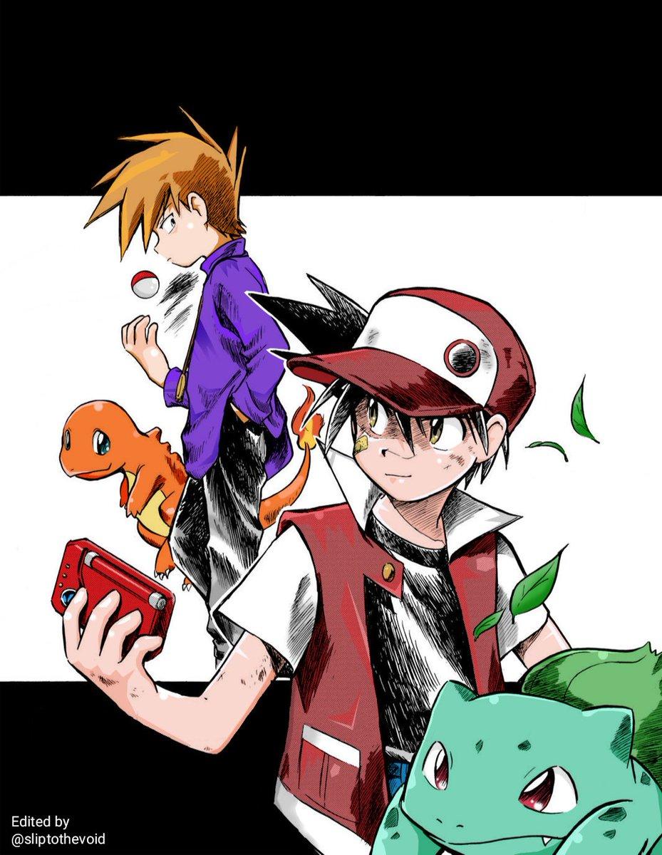Happy Pokémon day everyone! I coloured my favourite panel from one of my favourite mangas: Pokémon Adventures! #PokemonDay #Pokemon25thAnniversary