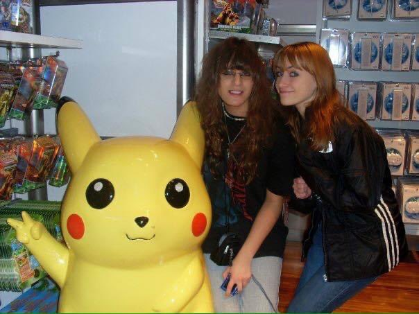 Me and @KHalfkey circa maybe 2007? Shortly after the Pokémon Center in NYC was converted to Nintendo World (now known as @NintendoNYC!)   #PokemonDay