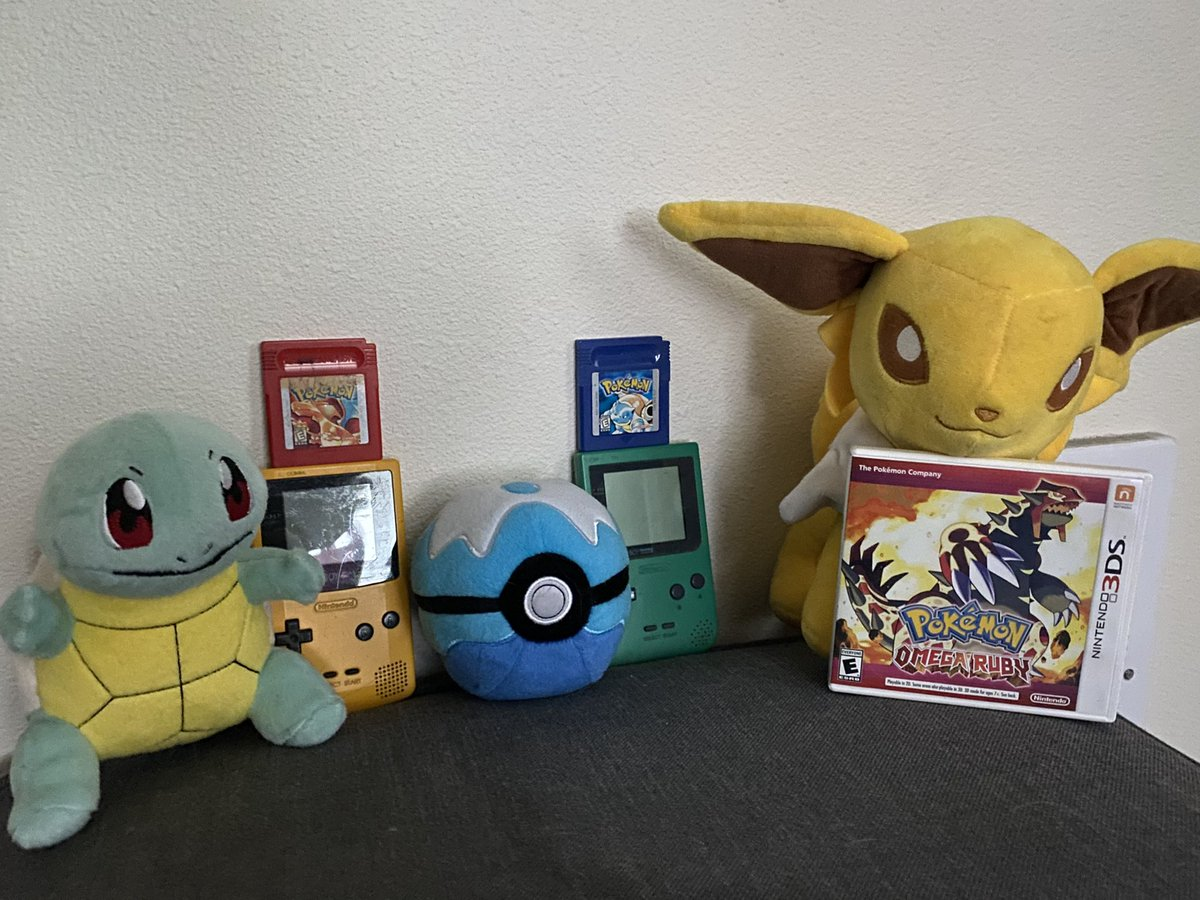 Happy #PokemonDay! :3 thank you for some of the very best memories a kid could ask for✨ not shown are ALL the VHS tapes my family owned growing up but here are some oldies but goodies❤️🤍 #Pokemon25