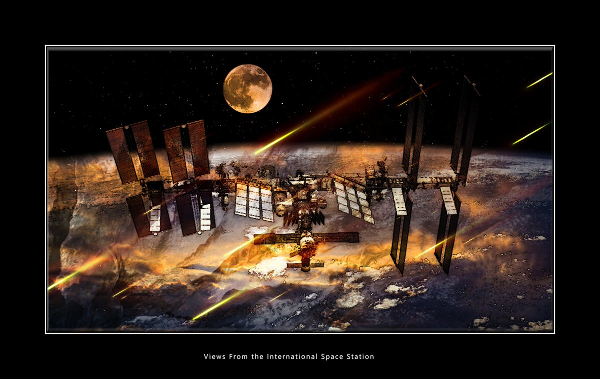 The International Spacestation, Earth   There Is No Saving a World Which is Bent on Destroying Itself Grey Cross Studios #art #climatechange #climatechangeisreal #climateaction #ClimateChangeart #extremeweather #climatechangeaction #dystopia