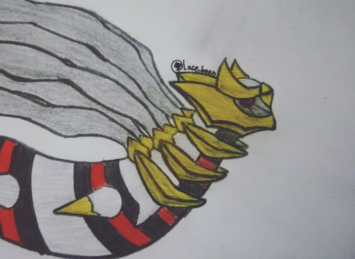 Because today is #PokemonDay , I decided to draw my favorite pokémon, Giratina I'm not very proud of this drawing tbh, I feel like I screwed up with the painting quite a bit He also has a super complex design #Pokemon25thAnniversary #pokemonart #pokemonfanart