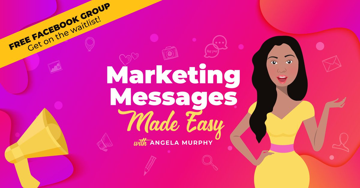 Hop on the waitlist for Marketing Messages Made Easy – the Facebook group. If you struggle to describe the PROBLEM your product or service solves, this is for you. #marketing #messaging #copywriting #facebook #contentmarketing  💃