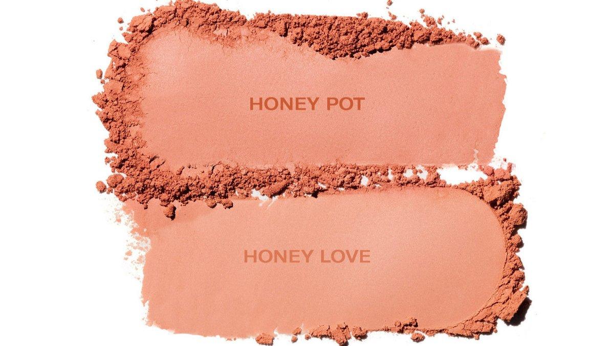 Matte Honey Blush shades -  Honey Pot: Matte Apricot  Honey Love: Matte Soft Peachy Apricot