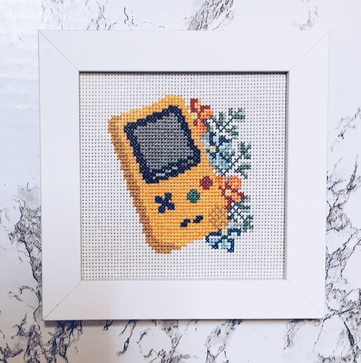 🔴 HAPPY POKÉMON DAY ⚪️  Cross-stitched this from a pattern cause it's a fond memory having the Pikachu GameBoy Color and playing til my lil eyes hurt 🥺    💗 THANK YOU POKÉMON for all these years 💗 #PokemonDay #Pokemon25 #Pokemon25thAnniversary
