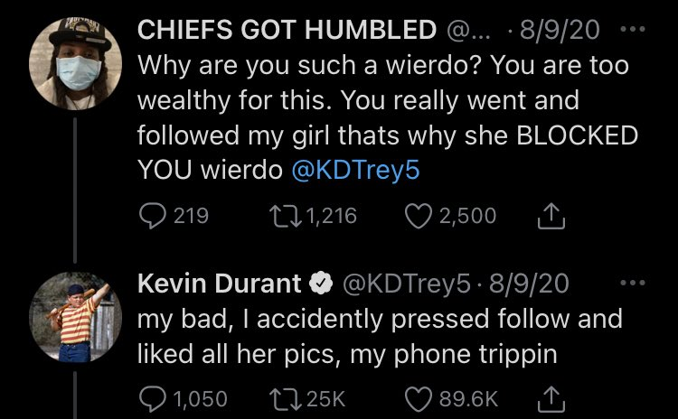 Replying to @mldiffley: Kevin Durant's best tweets