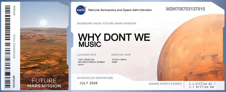 .@whydontwemusic how does it feel knowing that your guys' names is going to mars?