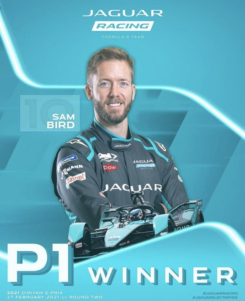Replying to @sambirdofficial: YES!! A great feeling to get my first win with @JaguarRacing ⚡️🦅🥳