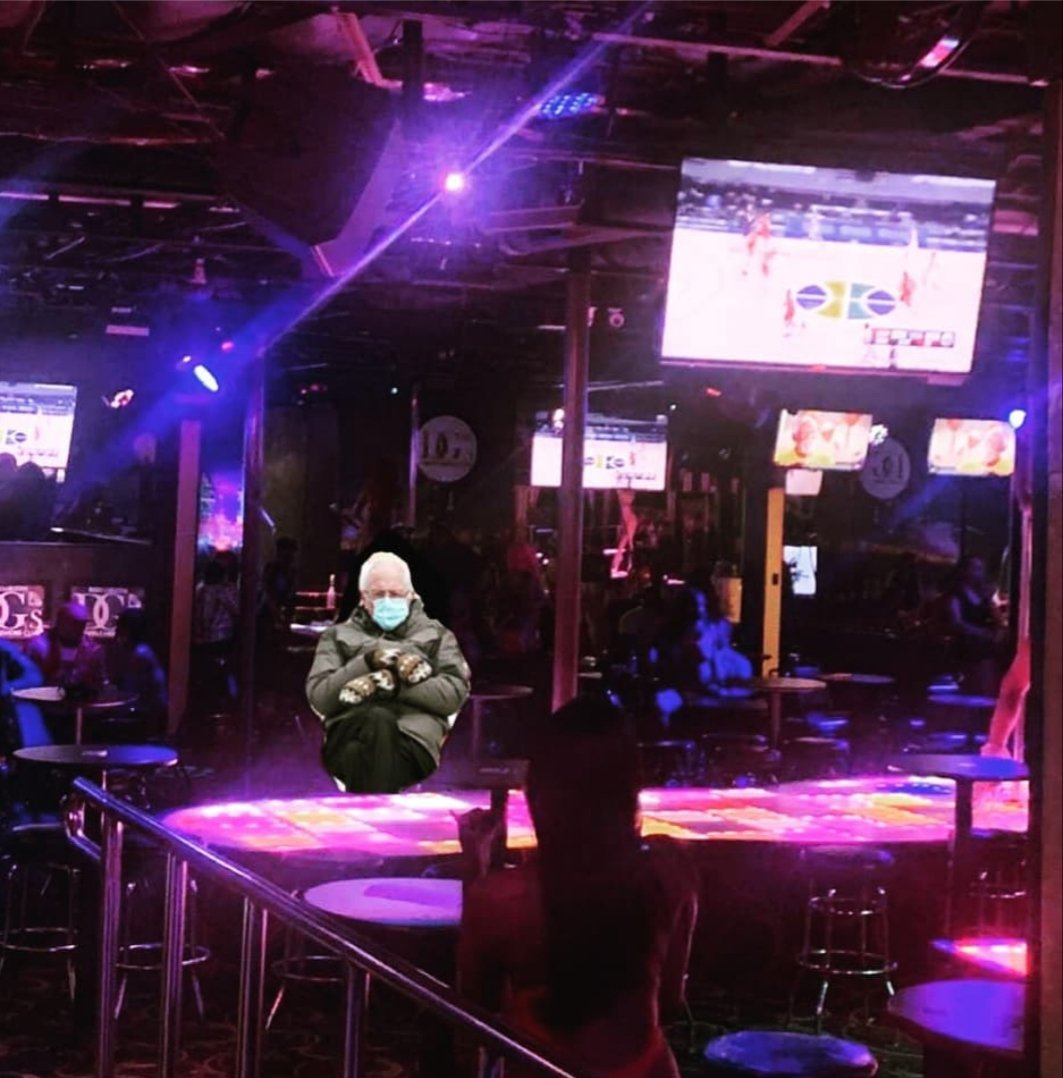 Everytime I Turn Around He's Back In The Strip Club #BernieSanders #BernieSandersMemes #GoGoLife