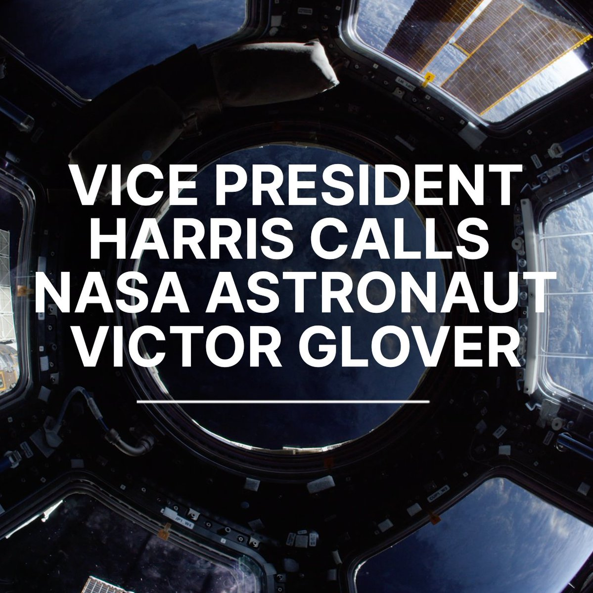 .@VP placed a special phone call to space when she spoke with astronaut @AstroVicGlover, currently aboard the @Space_Station. Watch the exchange in celebration of #BlackHistoryMonth: