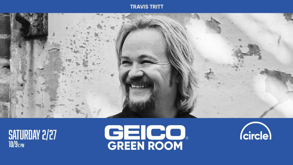 Opry member @Travistritt joins our friends @CircleAllAccess and @Geico in the #GeicoGreenRoom tonight after Opry live!   Tune in at