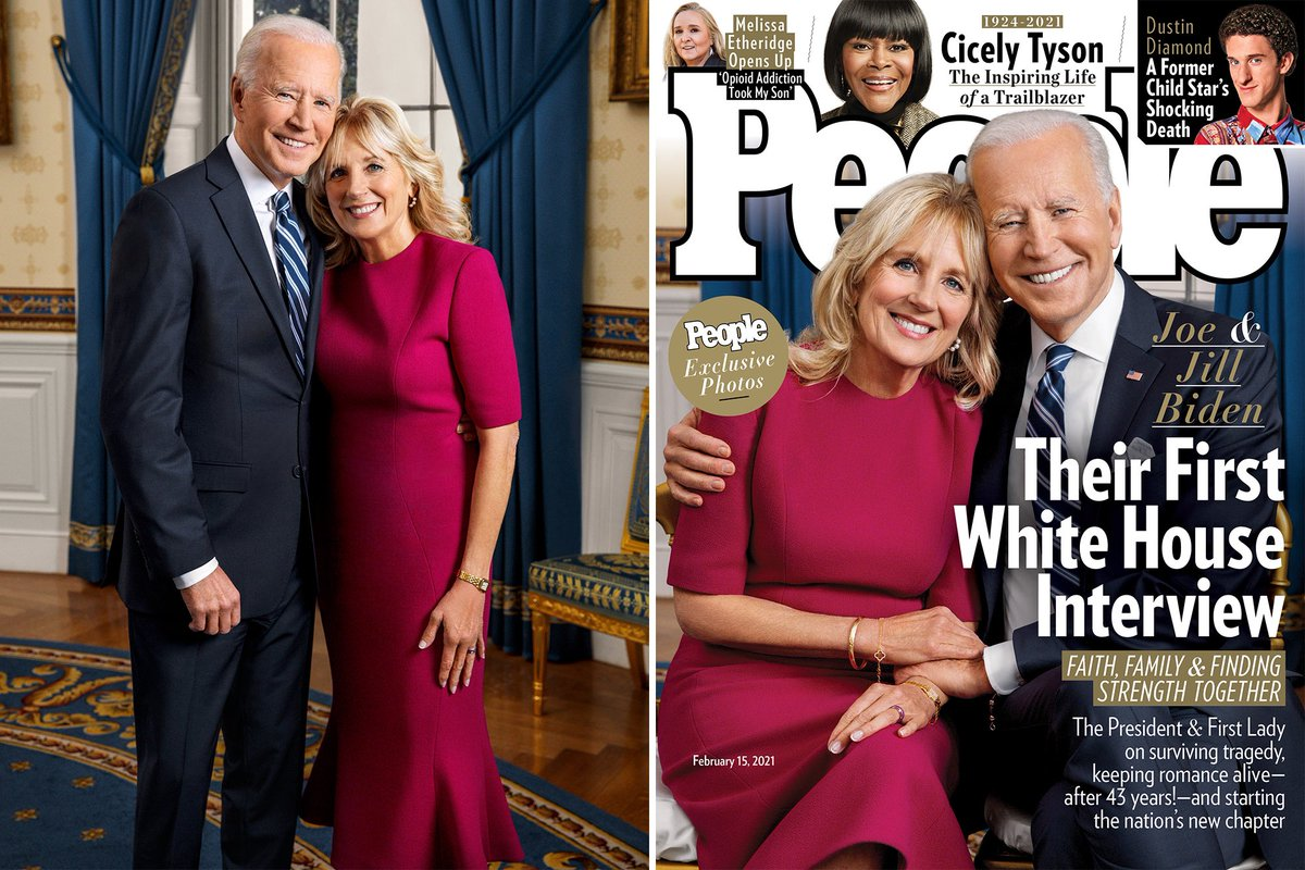 That's our #PresidentBiden and #FirstLadyJillBiden 🤗. It's been a longggggg 4 years, but we finally have great PEOPLE in the White House 🏛again. #President #JoeBiden #FirstLady #JillBiden @POTUS @JoeBiden @FLOTUS @DrBiden