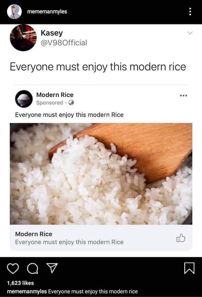 Everyone must enjoy this modern rice.