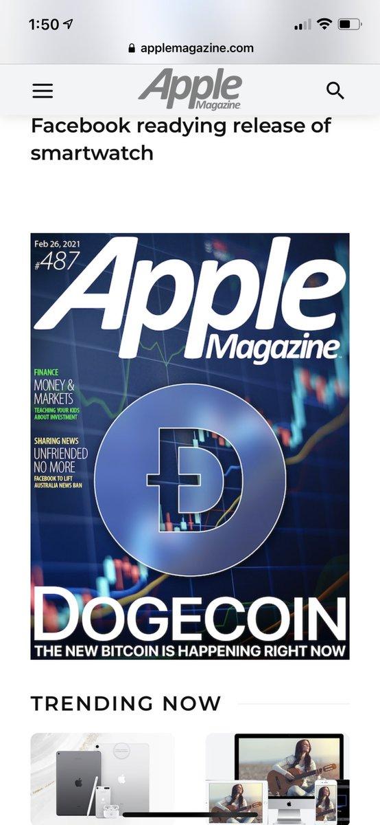 Apple Magazine's latest cover! #DOGE #dogearmy #doge @BenPhillipsUK @itsALLrisky