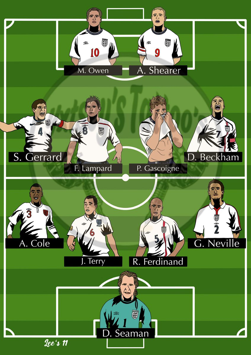 // @England // - It's not always club football which gives you the best memories, this is why we have national teams! Have a favourite national 11? Let me know 🦁 🦁 🦁 #Threelions