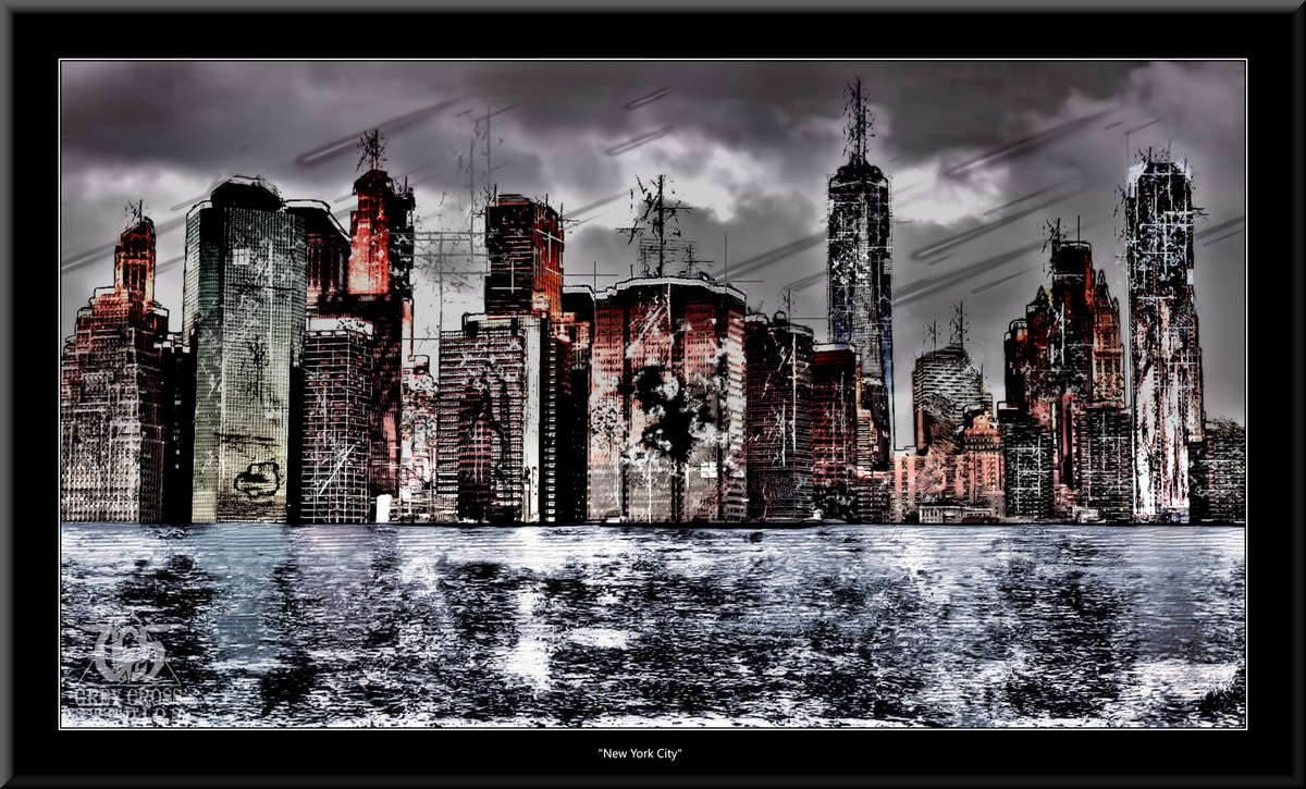 New York City, New York   There Is No Saving a World Which is Bent on Destroying Itself Grey Cross Studios #art #climatechange #climatechangeisreal #climateaction #ClimateChangeart #extremeweather #climatechangeaction #dystopia