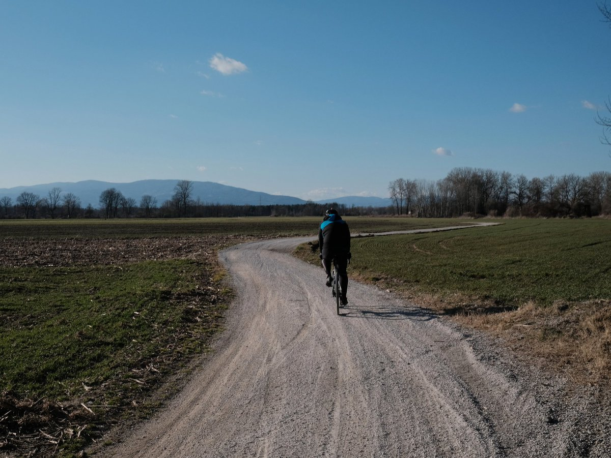 Gravel Is Fun  #landscape #cycling #biking #gravel #bike #countryroad #nocars #nature #beauty #cyclingtour #people #life #friends #styria #Slovenia #EU #europe #winter #wintertime #nosnow #coronatime #sunnyday #fujifilmx100v #ThisIsSlovenia #recreation