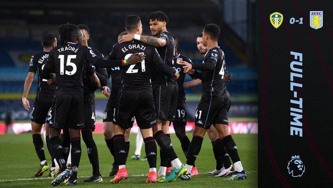 Hasil akhir Leeds United 0-1 Aston Villa