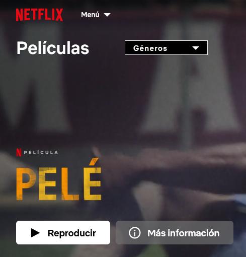 """Regocijaos amantes del mejor jugador de todos los tiempos. Ya está disponible el documental """"Pelé"""" en #Netflix"""