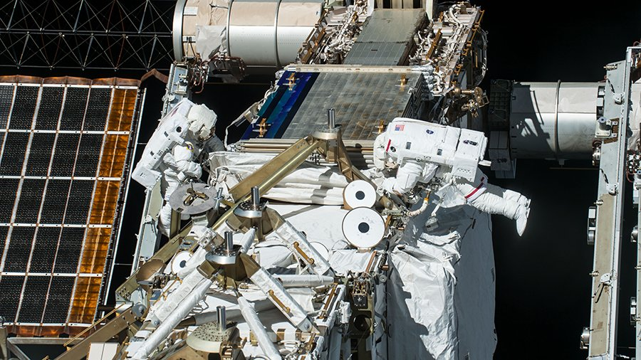 .@NASA TV will go live at 4:30am ET on Sunday to cover a spacewalk with @NASA_Astronauts Kate Rubins and Victor Glover. They will exit the station around 6am to begin the third spacewalk of the year. More...