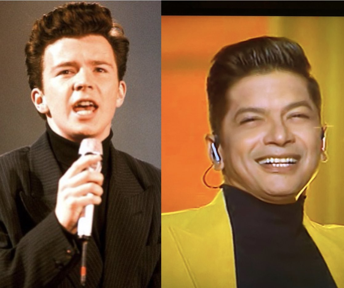 Am I the only one who sees the resemblance?  These two were separated at birth!   @rickastley & @singer_shaan   #ZeeTV #IndianProMusicLeague #IPMLonZeeTV  #IPML #IPMLONZEE5 #IndianProMusicLeagueOnZEE5 #Zee5 @ZeeTV