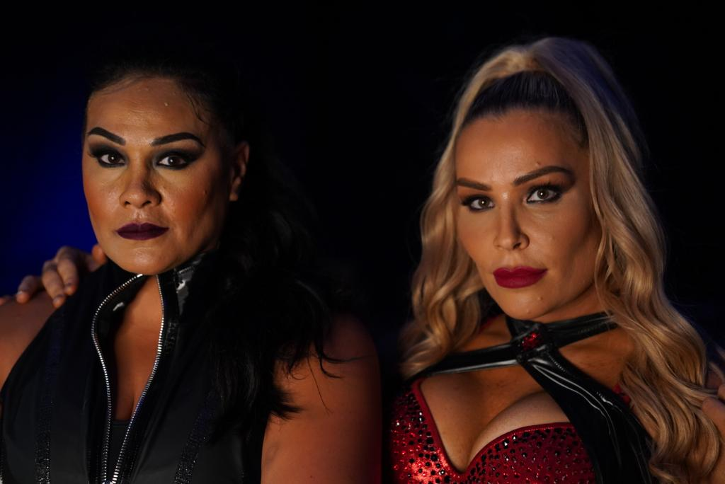 They can be the tag team of your 𝒹𝓇𝑒𝒶𝓂𝓈 or 𝐧𝐢𝐠𝐡𝐭𝐦𝐚𝐫𝐞𝐬. ✨ 😈 #SmackDown @NatbyNature @TaminaSnuka