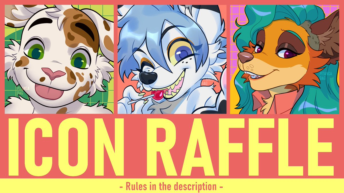 ✨ART RAFFLE ✨  Thank you all support <3  I will draw an icon for the winner!    To participate: 🔸Follow me  🔸Like and RT this post 🔸Tag a friend!   Ends 03/13