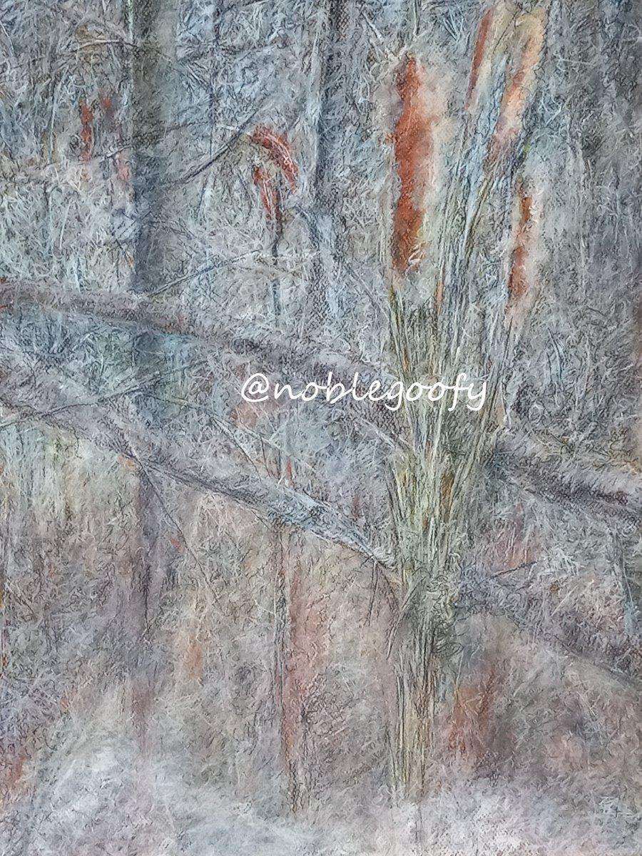 Winter Wetland 2021  Pastel on Paper   #artwork #landscape #wetland #winter #novascotia #pastel #canada