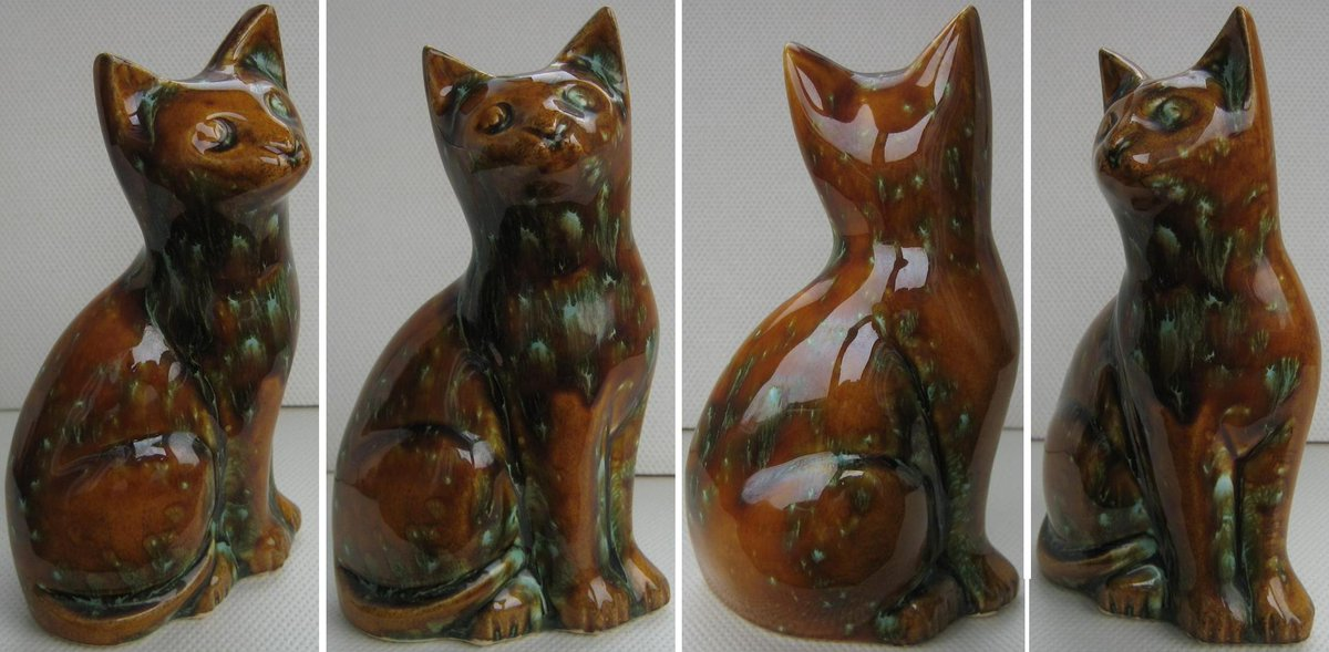 A #vintage Kenmare Kerry Irish studio pottery cat. 16 cm in height. 🐱  🛒  #FollowVintage #VintageShop #VintageHome #VintageForSale #Caturday