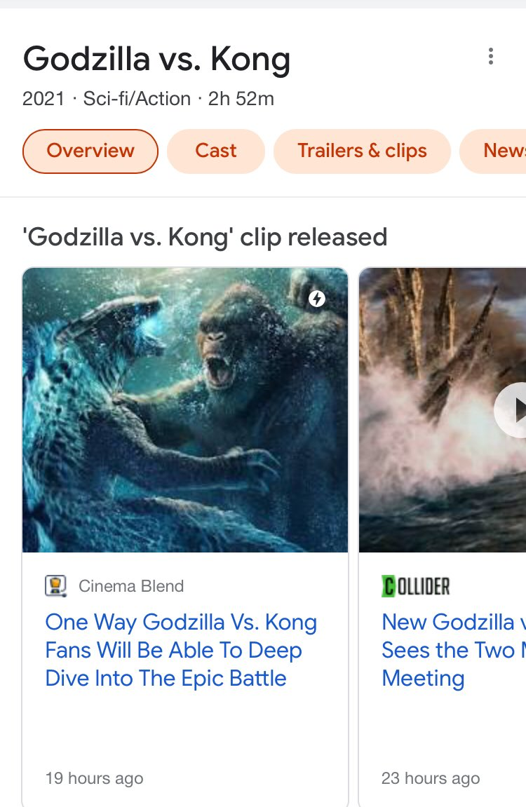 Godzilla vs kong is apparently 2 hours and 52 minutes long holy shit #GodzillaVsKong