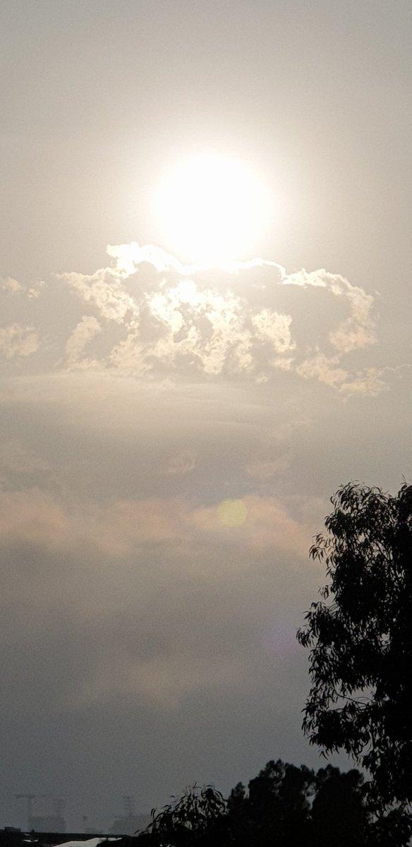 Misty rising sun as we weave our way into autumn 🇦🇺 #Sunday #Risingsun  #Sydneyskies  Good morning ☀️