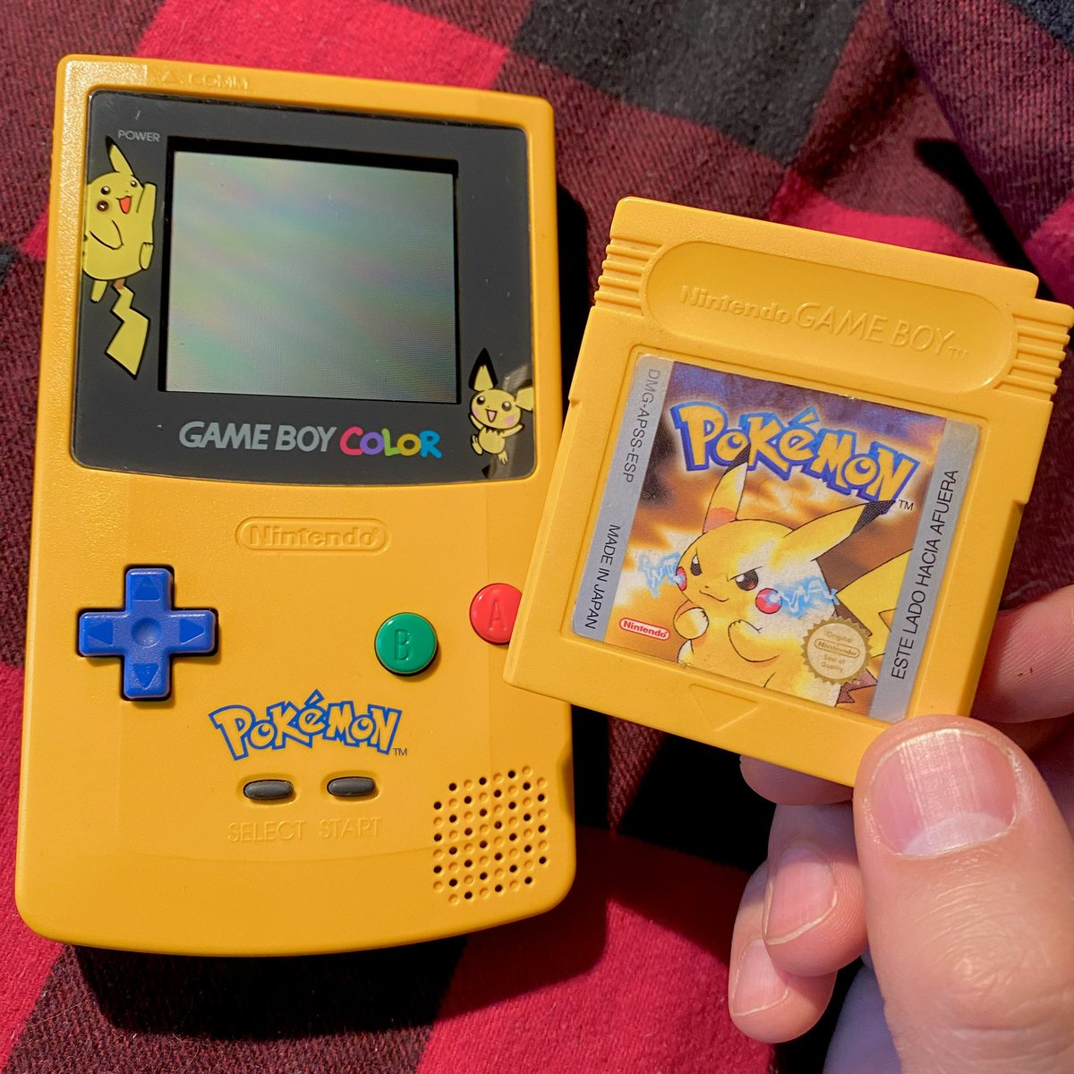 Happy #PokemonDay! This here is my first Pokémon game, I bought it in the year 2000, this was the first video game I bought with my own money, I worked painting a house and I bought it with my first pay.