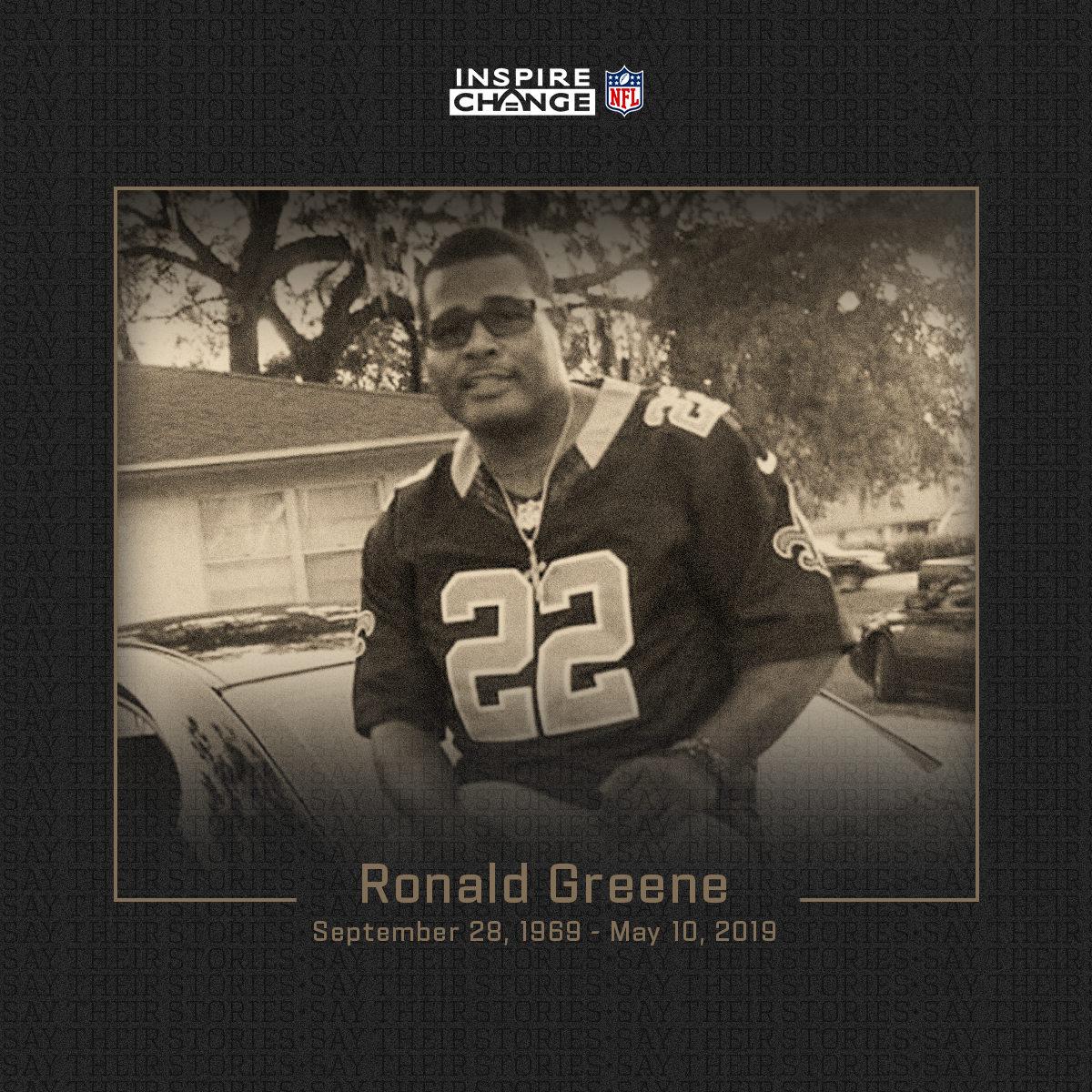 Say His Name: Ronald Greene  Ronald is one of the many individuals being honored by players and coaches this season through the NFL's helmet decal program.  #SayTheirStories: