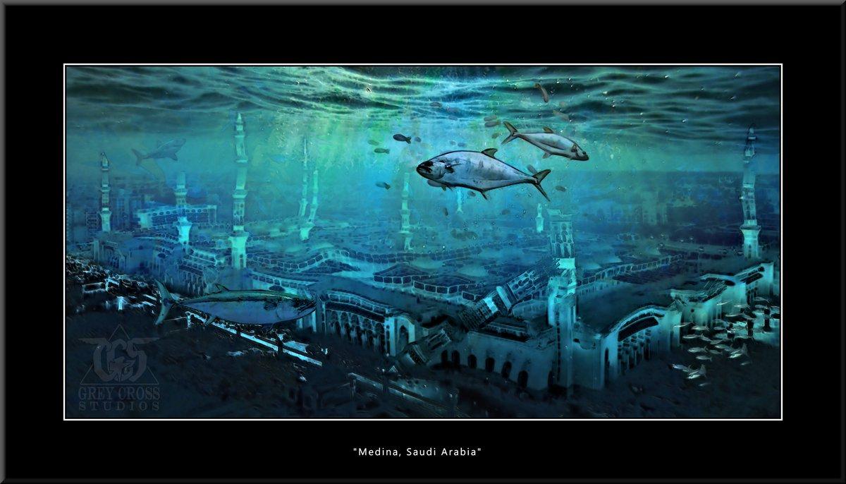 Medina, Saudi Arabia   There Is No Saving a World Which is Bent on Destroying Itself Grey Cross Studios #art #climatechange #climatechangeisreal #climateaction #ClimateChangeart #extremeweather #climatechangeaction #dystopia