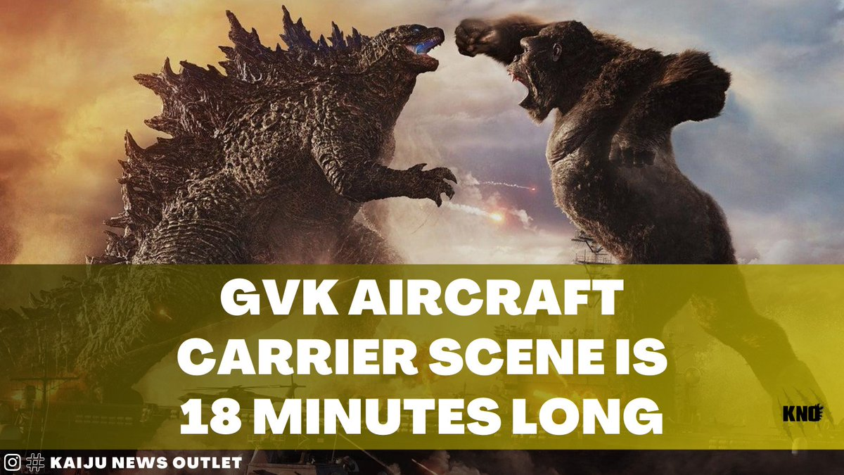 "Composer Junkie XL has stated that the aircraft carrier scene from #GodzillaVsKong is 18 minutes long.  ""this scene that was released today, was it on IGN? Forty seconds of footage? That scene is 18 minutes long and it's ridiculous.""  Source: Film Junkee Vodka Stream"