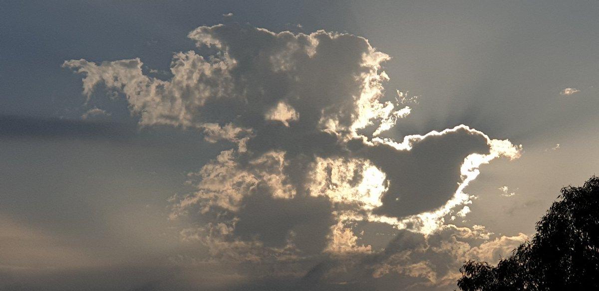The sun behind cloud  #Risingsun #Clouds  #Sunday