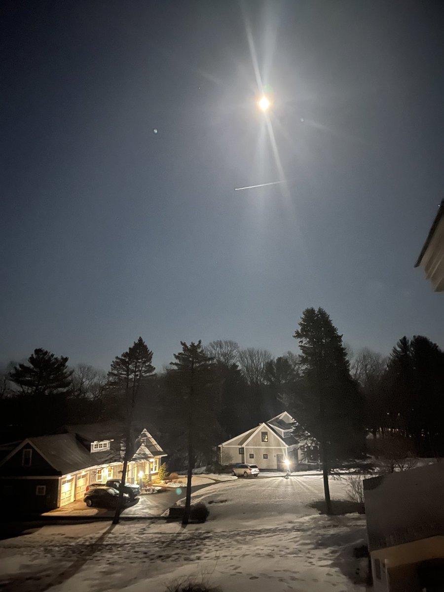 Moonlit neighbors. #YorkeMaine #Home